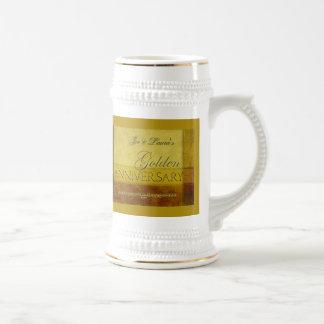 Customize your own Golden Anniversary Beer Stein