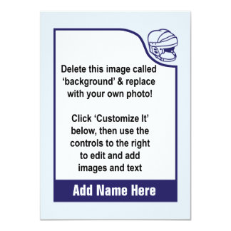Customize Your Own Hockey Trading Card Personalized Announcements