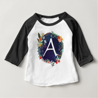 Customize your own initial Monogram letter Baby T-Shirt