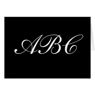 Customize your own monogram card