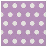Customize your own polka dots pattern in purple fabric