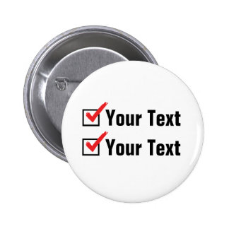 Customize Your Own Status - Personal Ad 2 Inch Round Button