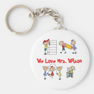 Customize Yourself Keychain For Teacher