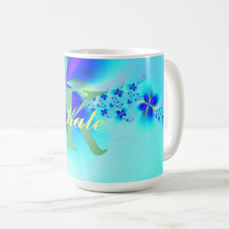 Customizeable Abstract Fractal Art Pattern Coffee Mug