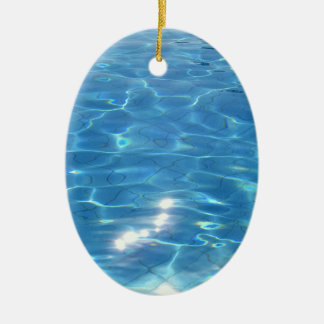 Customizeable Beach Scene Ceramic Ornament
