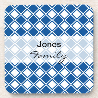 Customizeable Blue Diamond Kitchen Products Drink Coasters