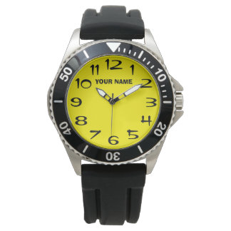 Customizeable Pale Yellow and Your Name Watch