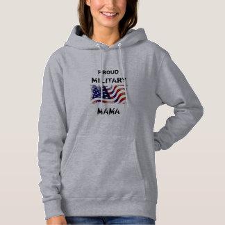 customizeable Proud Military Mama Hoodie