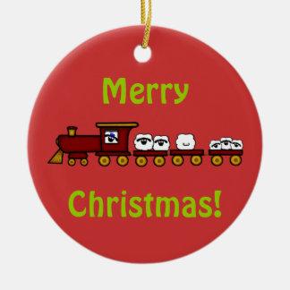 Customizeable Sheep Christmas Ornament