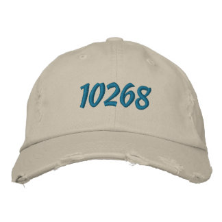 Customizeable Zip or Postal Code Embroidered Hat