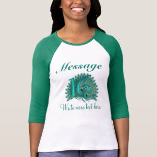 Customized 16 elegant text 16th birthday T-shirt