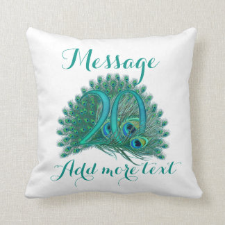 Customized 20th wedding anniversary text pillow