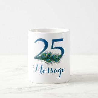 Customized 25th birthday add name text mug