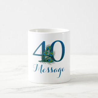 customized 40th birthday personalized text mug