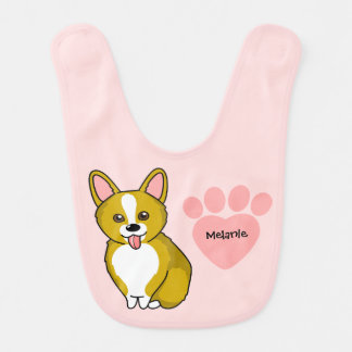 Customized Adorable Corgi Bib