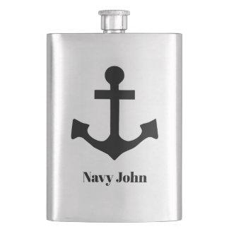 Customized Anchor Hip Flask