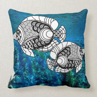 Customized Angelfish decorative Pillow