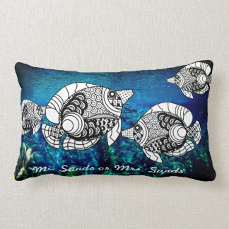 Customized Angelfish Lumbar Pillow