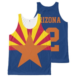 Customized Arizona Est. 1912 State Flag All-Over-Print Tank Top