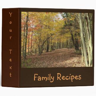 Customized Autumn Fall Nature Scene Recipes Binders