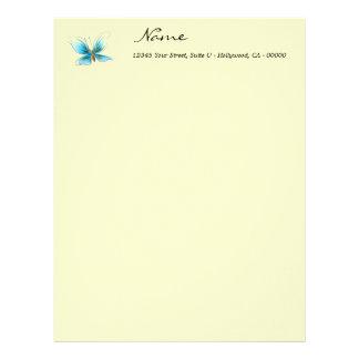 Customized Baby Blue Butterfly Letterhead