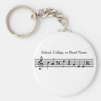 Customized Band Geek Key Chain