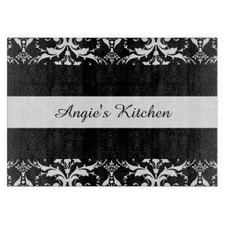 Customized Black and White Damask Kitchen Gadget Boards