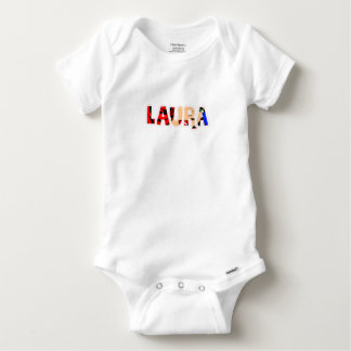 Customized body you drink Laura Baby Onesie
