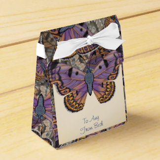 Customized Boulder Copper Butterfly Favor Box