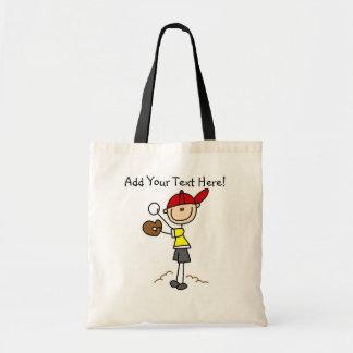 Customized Boys  Baseball Player Tote Bag