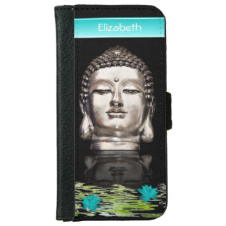 Customized Buddha Head Statue iPhone 6 Wallet Case