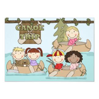 Customized Canoe Trip Birthday Invitation