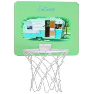 Customized caravan Vintage camper Mini Basketball Hoop