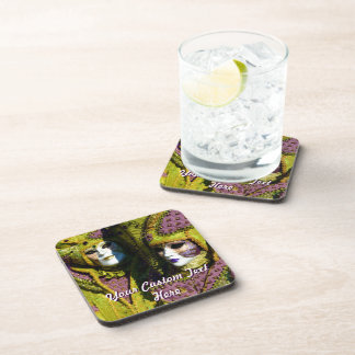 Customized Carnival Masks Beverage Coasters