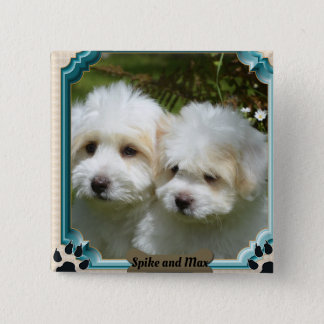 Customized Cavachon Magnet, Customized Dog Magnet 2 Inch Square Button