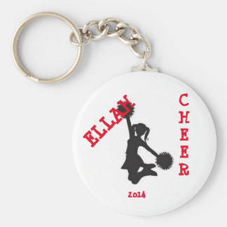 Customized cheer button keychain