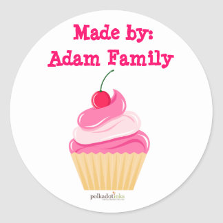 Customized*Cherry Cupcake Stickers Book