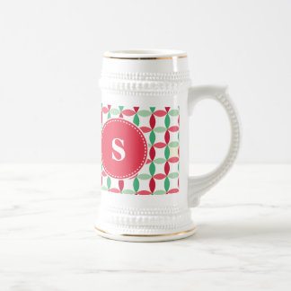 Customized Christmas Modern Pattern Beer Stein