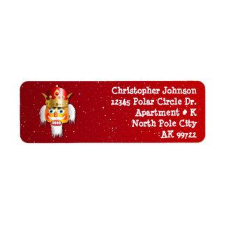 Customized Christmas Nutcracker King Return Address Label