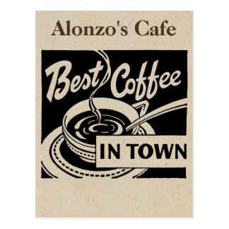 Customized Coffee Shop Postcard