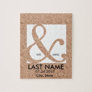 Customized Couple Ampersand Puzzle