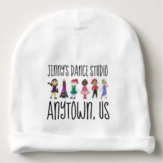 Customized Dance School Studio Ballet Tap Jazz Baby Beanie