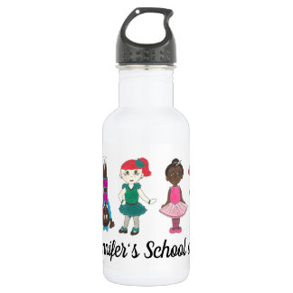 Customized Dance Studio School Teacher Ballet Tap 532 Ml Water Bottle
