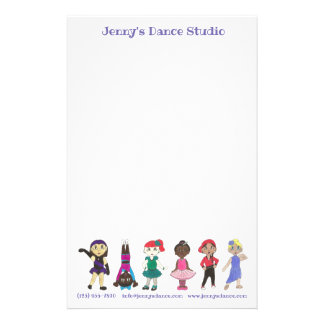 Customized Dance Studio School Teacher Ballet Tap Stationery