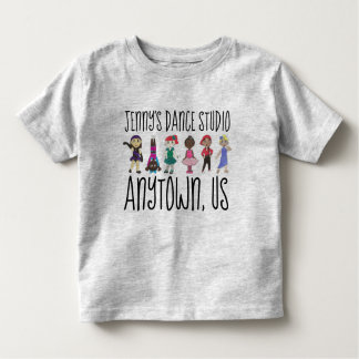Customized Dance Studio School Teacher Ballet Tap Toddler T-shirt