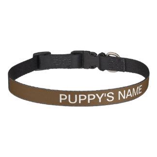 Customized Dark Brown Basic Color Coordinating Pet Collar