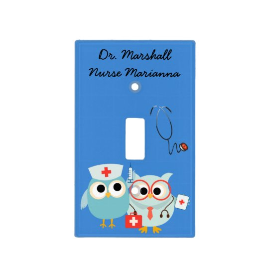 Customized Doctor and Nurse Light Switch Cover