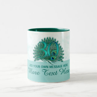 Customized elegant 30th birthday 30 text mug