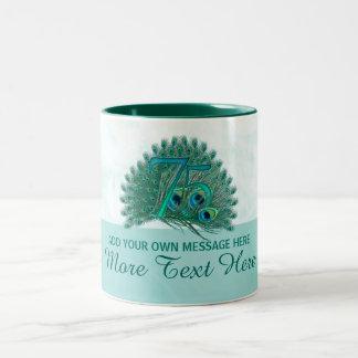 Customized elegant 75th birthday 75 text mug
