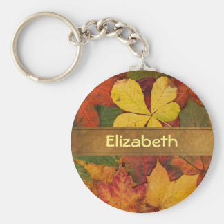 Customized Fall Foliage Leaves Keychain